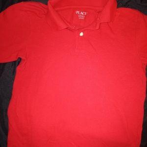 Boys polo pull over shirt